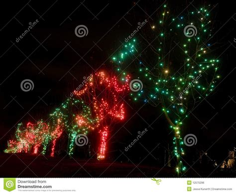 green and red christmas lights royalty free stock image