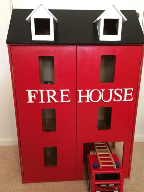 fire house dolls children s toy wooden fire station firehouse dolls