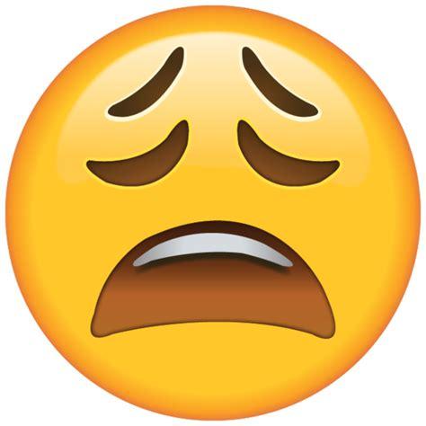 high resolution tired face emoji     yawn