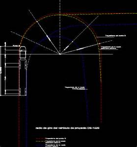 turning radius of truck trailer in autocad drawing bibliocad