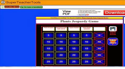 The Third Grade Zoo Jeopardy Game Maker Jeapordy Maker