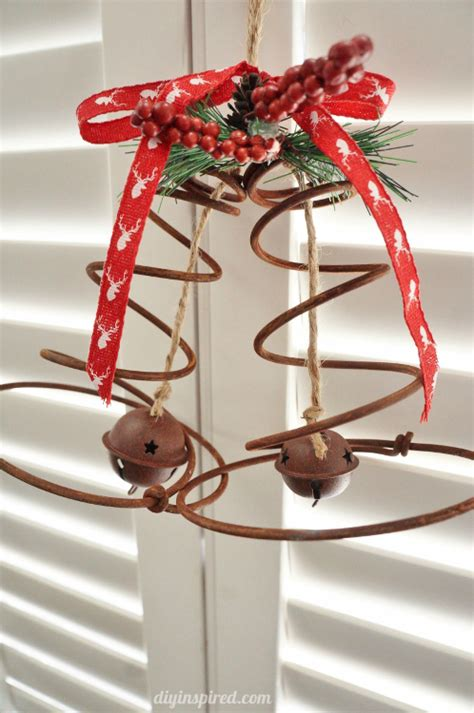 how to make christmas bells at home how to repurpose bed springs in home decor in a fantastic way