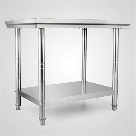 banco piano 610x915mm tavolo in acciaio inox ristorazione banco piano