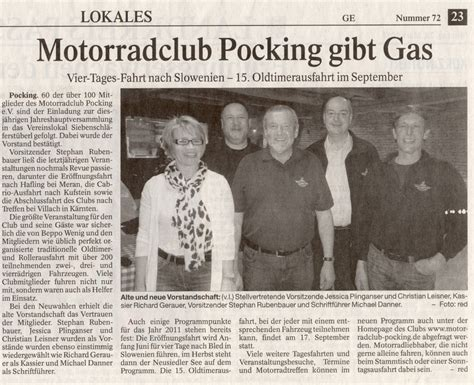 Motorradclub Pocking by Presse 2011