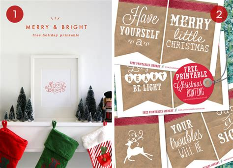 merry bright christmas printables for framing roundup 10 festive christmas printables for your home