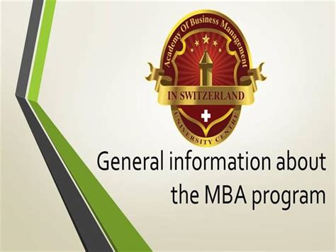 Interesting Facts About Mba by General Information About The Mba Program Authorstream