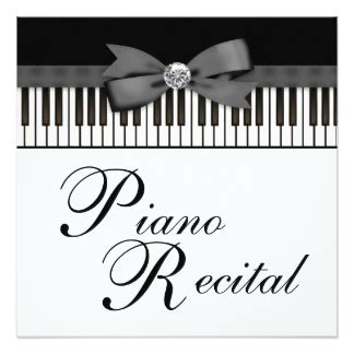 piano recital invitations amp announcements zazzle