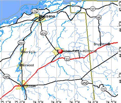 malone ny map malone new york map
