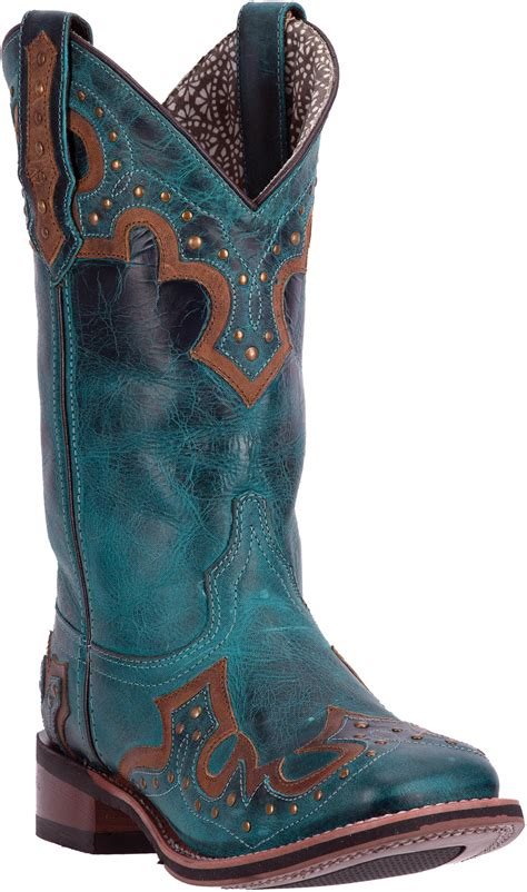laredo womens turquoise western boots leather cowboy boots