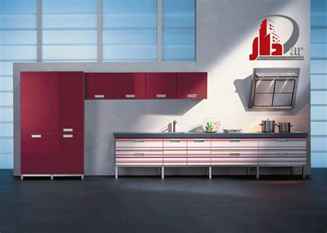 Red And White Kitchen Cabinets by Kitchen Cabinets Modern Two Tone White Medium Wood