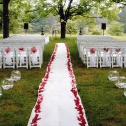 Cheap Wedding Ceremony Decorations by Cheap Outdoor Wedding Decor Cheap Outdoor Wedding Ceremon