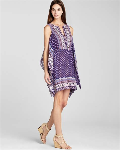 Alexi Dress bcbgmaxazria caftan dress alexi printed in purple
