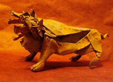 Origami Mythical Creatures - incredibly like origami paper sculptures of animals