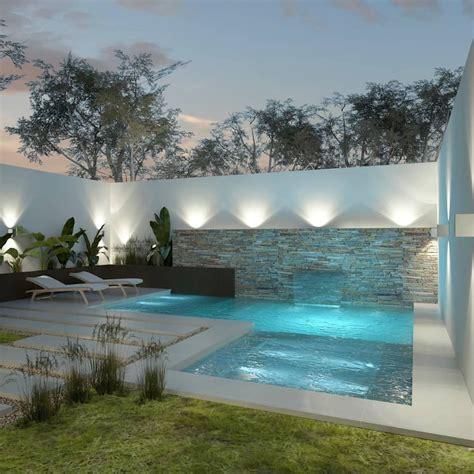 diseno de patios pequenos  piscina piletas de estilo