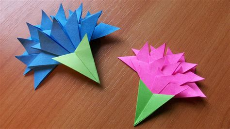 How To Make Easy Paper Flowers For Cards - how to make easy paper flowers for greeting card handmade