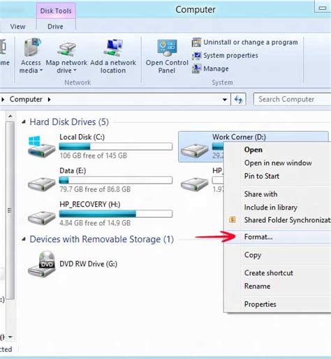 format hard disk windows 8 1 easiest way to format a hard drive in windows 8 when not