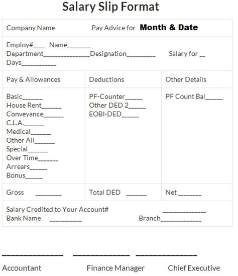 payslip format in excel free download oloschurchtp com