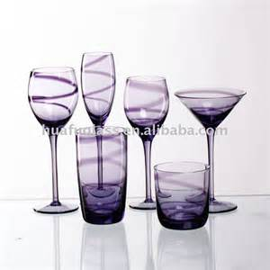 And Wine Glass Set Purple Wine Glass Dinner Set The Color Of Purple
