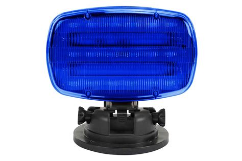 magnetic strobe lights led strobe light with adjustable locking magnetic base blue lens sl alm b larson