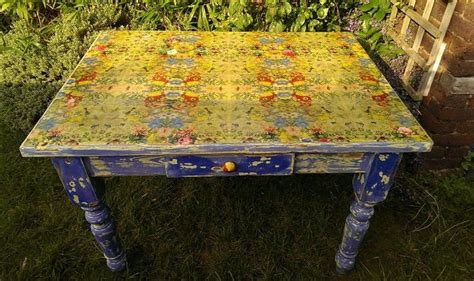 Diy Decoupage Table - table top transformation napkin decoupage diy tutorial