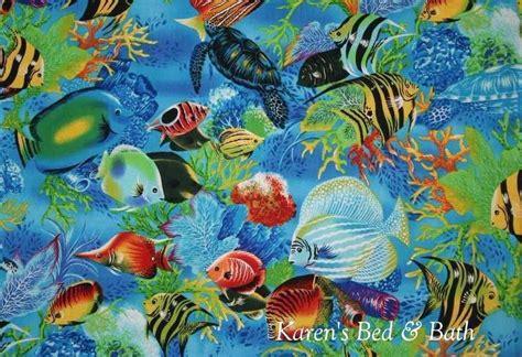 Vs 24 Cr Cotton Bag Oceanseven tropical aquarium underwater sea fish turtle cotton fabric t3 24 ebay