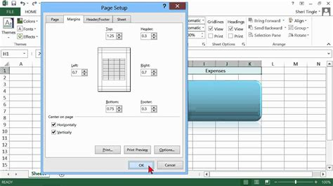 page layout in excel 2013 microsoft office excel 2013 tutorial setting up the page