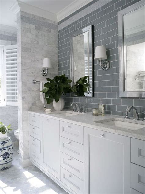 subway tile shower mirrored bathroom partitions modern master bathroom with subway tile double sink zillow