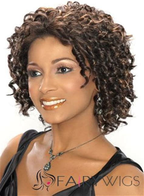 Sephia Lace Black sparkle curly sepia american lace wigs for