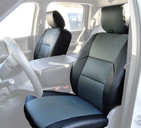 Dodge Ram Seat Upholstery by Dodge Ram 2009 2016 Black Charcoal S Leather Custom Made