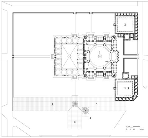 mosque floor plans architectural drawings floor plan of the complex showing 1 mosque 2 madrasa hadith