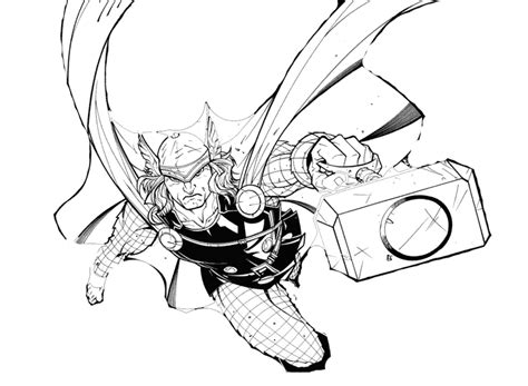 thor colors thor coloring pages
