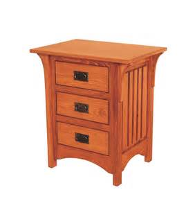 Mission Style Coffee Table Deluxe Mission 3 Drawer Night Stand Ohio Hardwood Furniture