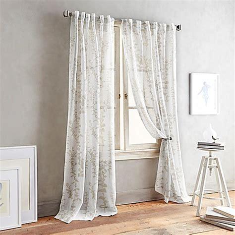 tab sheer curtains buy dkny front row 63 inch back tab sheer window curtain