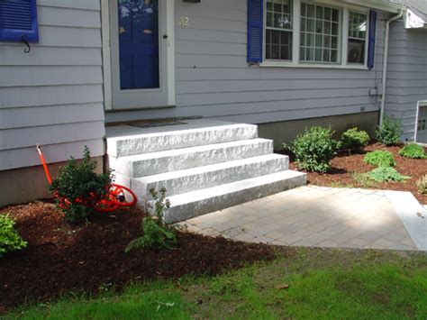 front yard landscaping stairs stairs by tompkins landscaping and irrigation