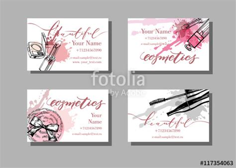 Makeup Artist Composite Card Template by Quot Makeup Artist Business Card Vector Template With Makeup