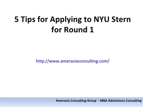 Nyu Mba Application Login by 5 Tips For Applying To Nyu For 1