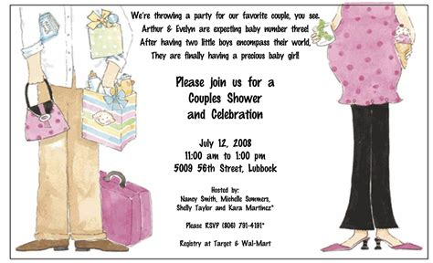 Couples Baby Shower Invitation Wording Exles by Make Baby Shower Invitation Wording Ideas