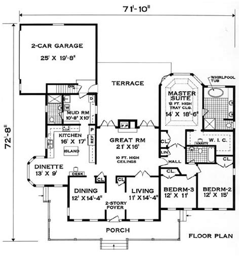 Perfect House Plans | perfect home 8366 3 bedrooms and 3 5 baths the house