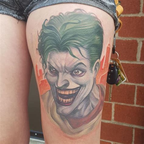 halo tattoo artist custom joker by halo tattoonow