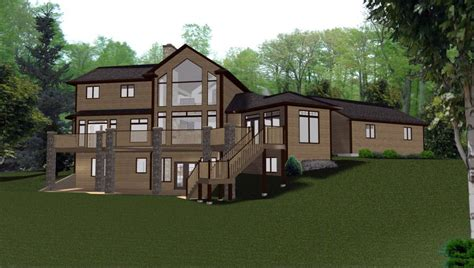 one story house plans with walkout basement 3 story house plans with walkout basement best of 2 story