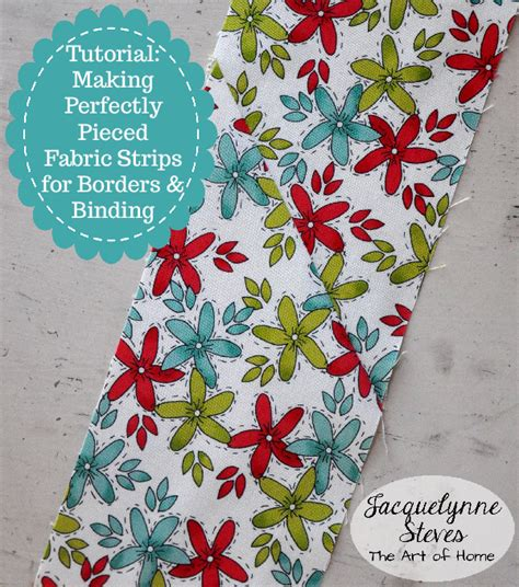 Quilt Borders And Bindings by Piecing Fabric Strips For Borders And Binding Using A