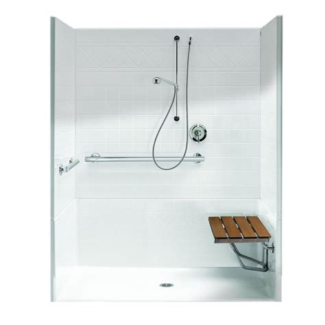 3 Shower Stall With Seat Aquatic Freedomline 37 125 In X 63 75 In X 77 75 In 4