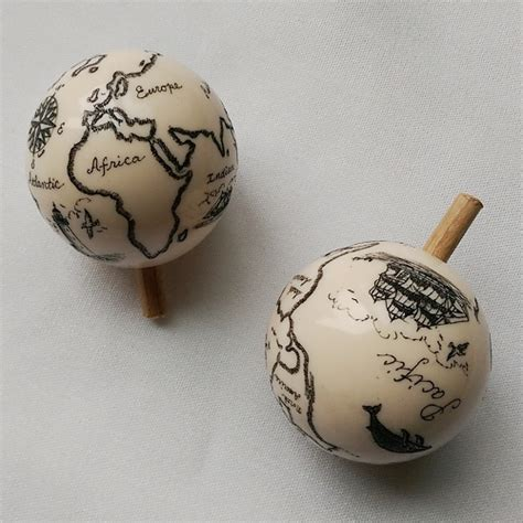 Map Knobs by Acrylic World Map Pull Knob