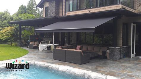 awnings canada retractable awnings vancouver bc wizard screens