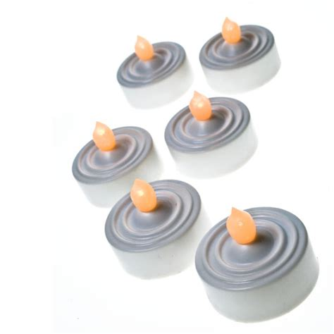 battery operated flickering lights pack of 6 white battery operated led flickering tea lights