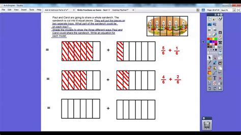 what is a section 7 write fractions as sums section 7 2 youtube