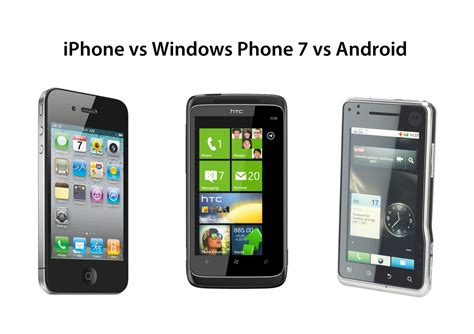 android vs windows phone to iphone 4 vs windows phone 7 vs android it pro