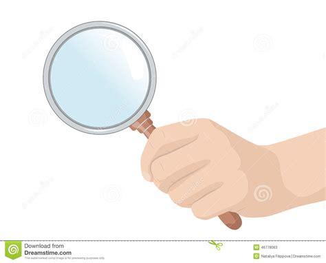 glass cartoon man with magnifying glass vector www pixshark com
