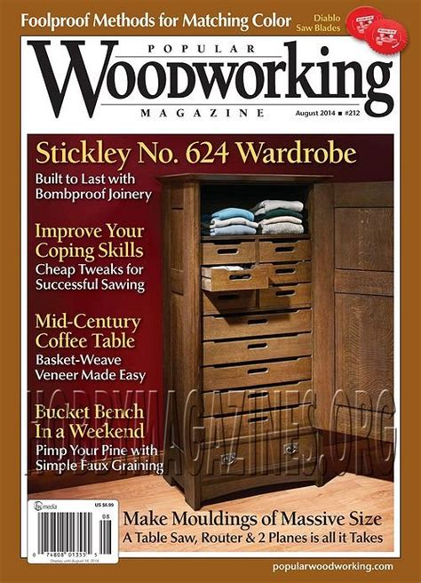 best books on woodworking popular woodworking 212 august 2014 187 hobby magazines