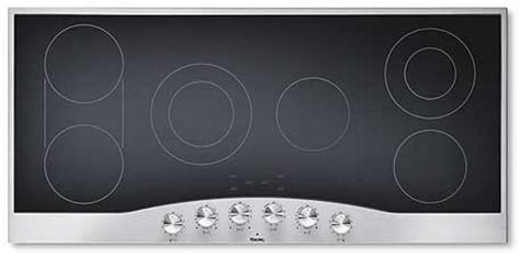 45 inch cooktop viking decu1556bsw 45 inch smoothtop electric cooktop with